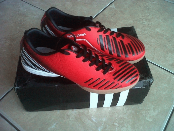 sepatu futsal adidas predator lz merah sol original