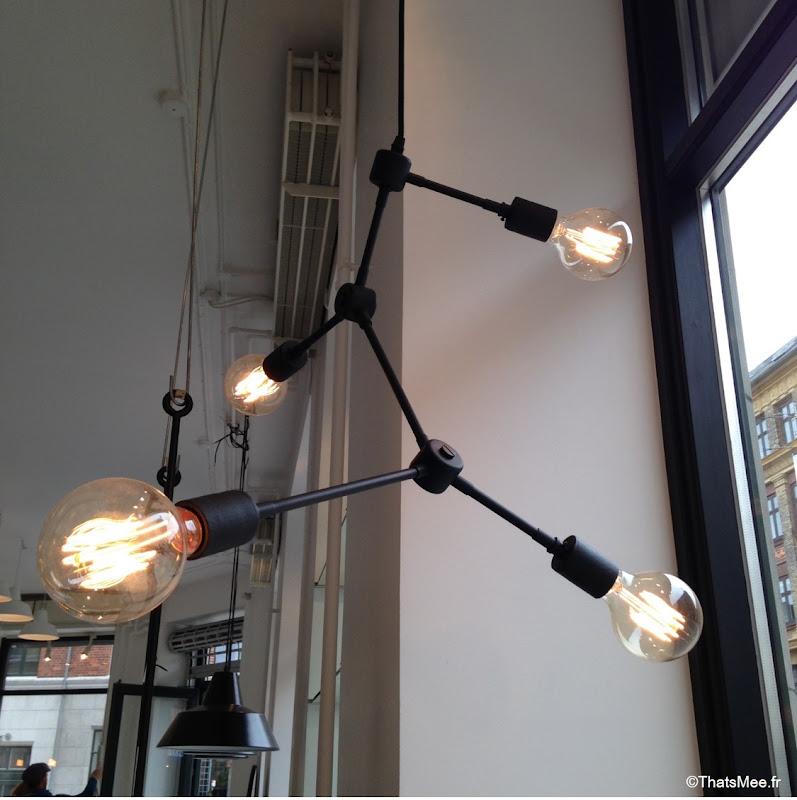 Dansk, Concept Store Design Copenhague luminaire suspension industrielle moderne