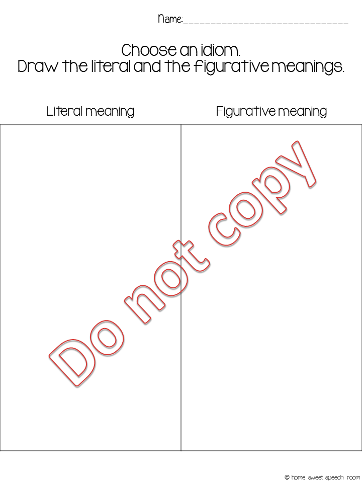 Printable Worksheets worksheets on idioms : Making Sense of Idioms | <!--Can't find substitution for tag [blog ...