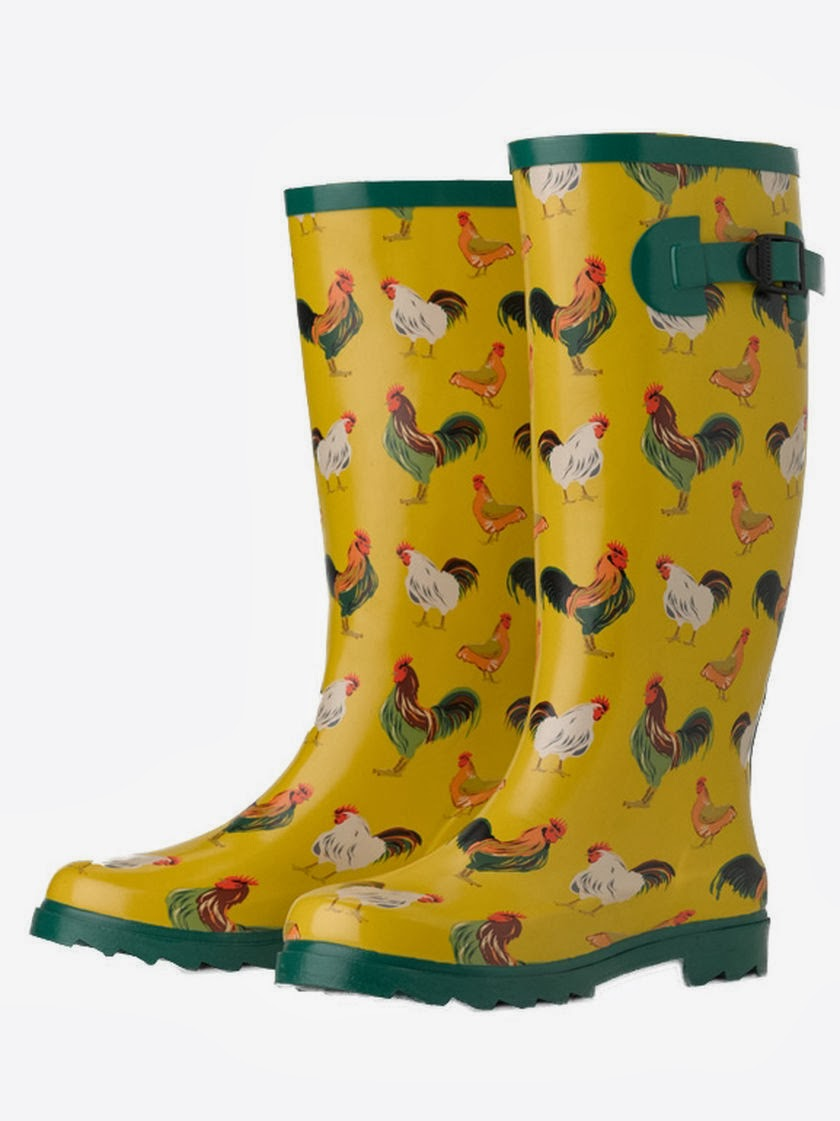 Awesome Sloggers Women39s Daffodil Yellow Chicken Print RainGarden Boot