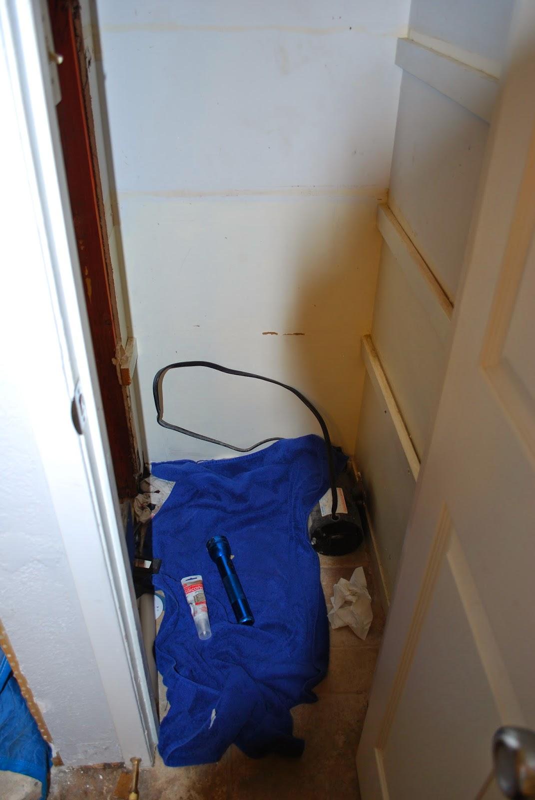 seal plumbing under tub