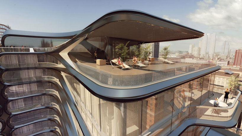 The style examiner zaha hadid unveils plans for first for Architecture companies in nyc