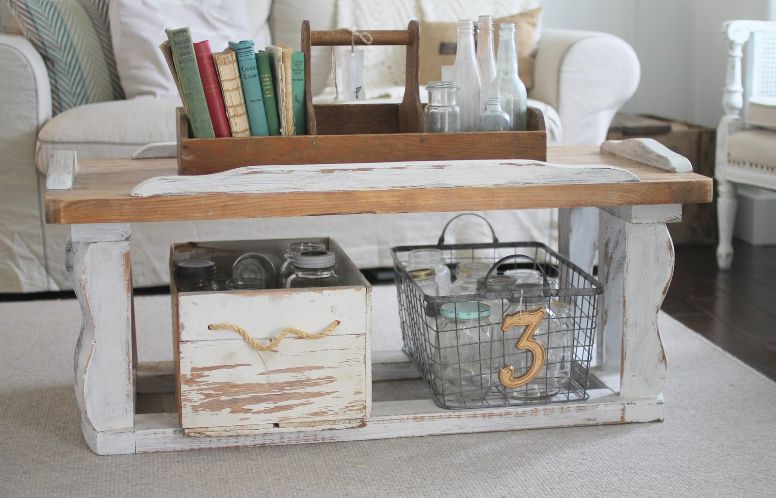 Whimsical Treasures Farmhouse Coffee Table 65