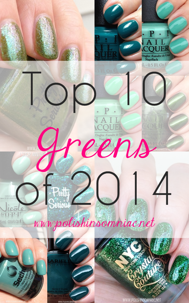 Top 10 Green Polishes of 2014