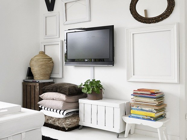 Una pizca de hogar casa moderna low cost y vintage - Decoracion mueble tv ...