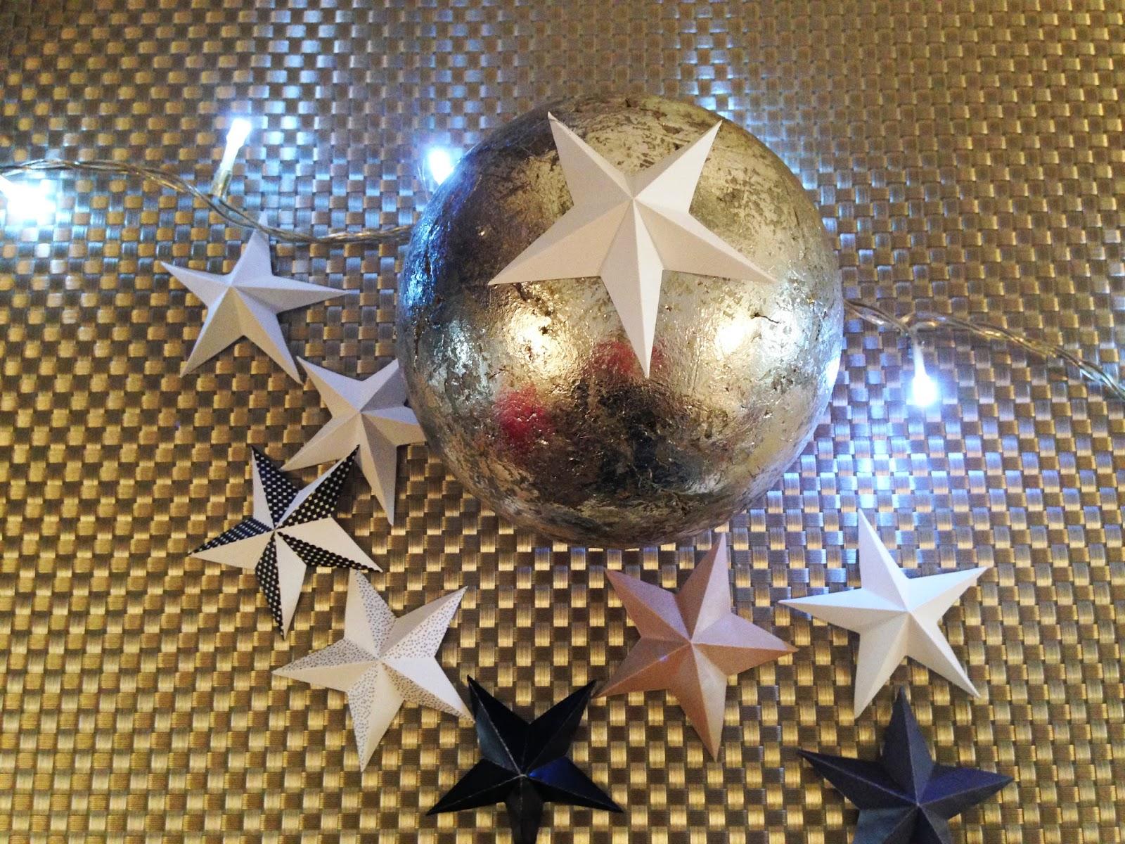 Déco de table de Noel - Printable et DIY. Les étoiles