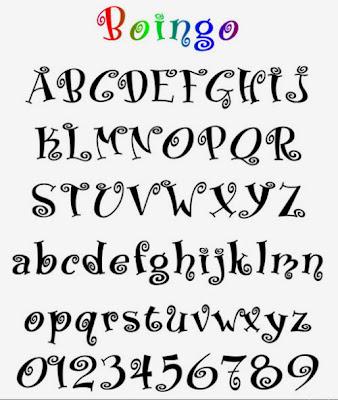Graffiti Alphabet letter, Graffiti number Boingo