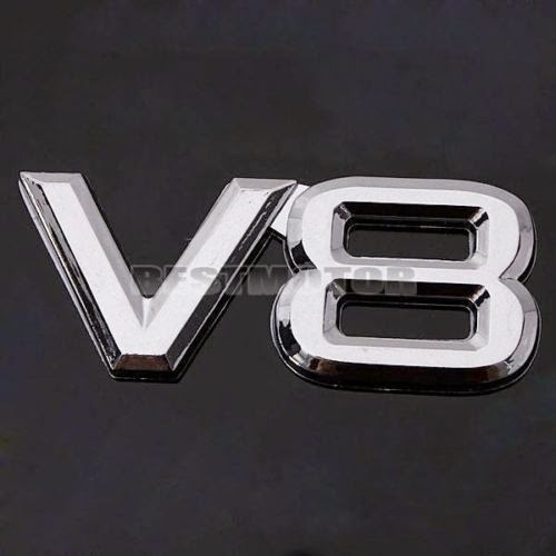 3D Chrome V8 Car Sticker Decal Emblem Badge Logo Plastic Adhesive OffRoad Auto