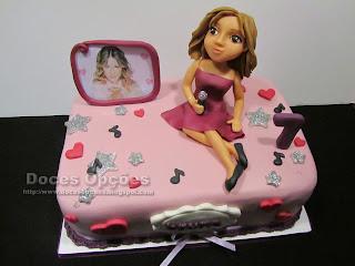 birthday cake disney violetta