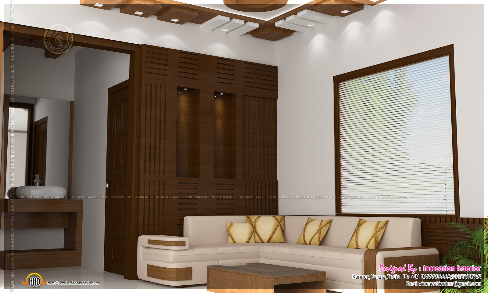 Interior design ideas by increation interior kerala for Living room interior in kerala