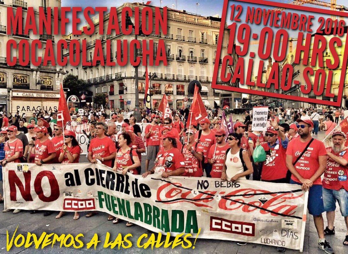 12 noviembre manifestación CocaCola en Lucha