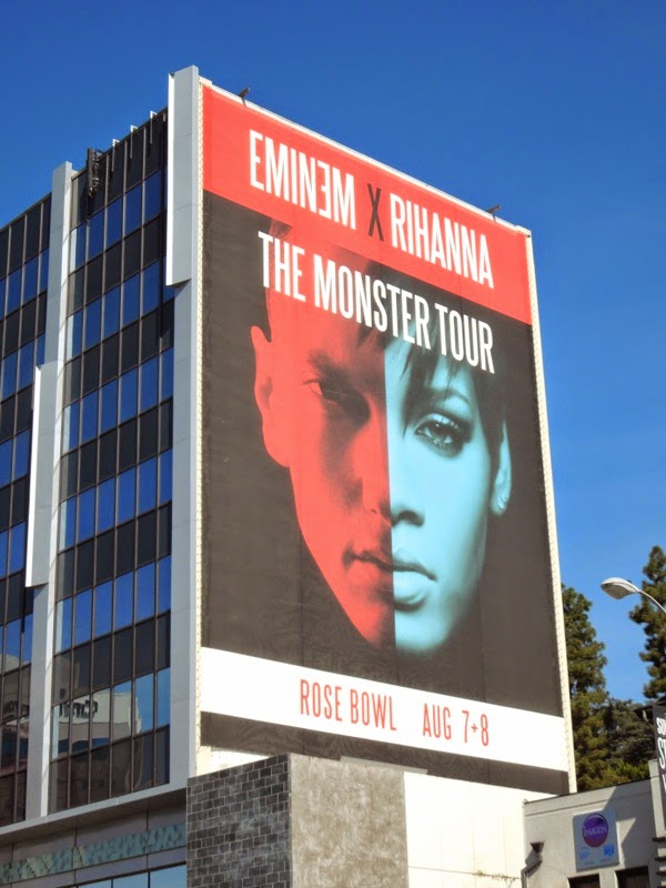 Eminem Rihanna Monster Tour L.A. billboard
