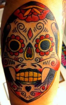 Tatuagens de caveira mexicana masculinas diferentes - Fotos