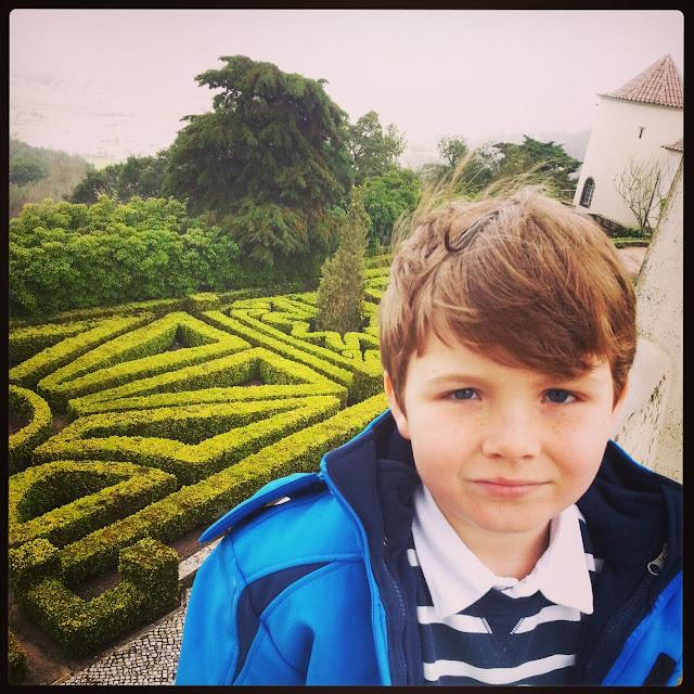 beautiful gardens at Seteais Palace Sintra