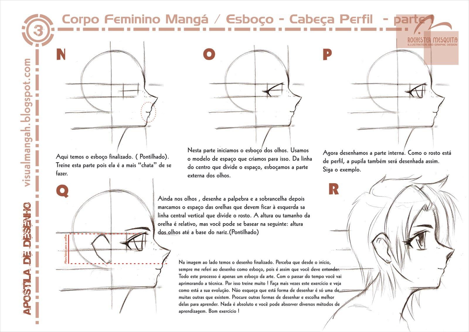 Como Desenhar Rosto Feminino Perfil