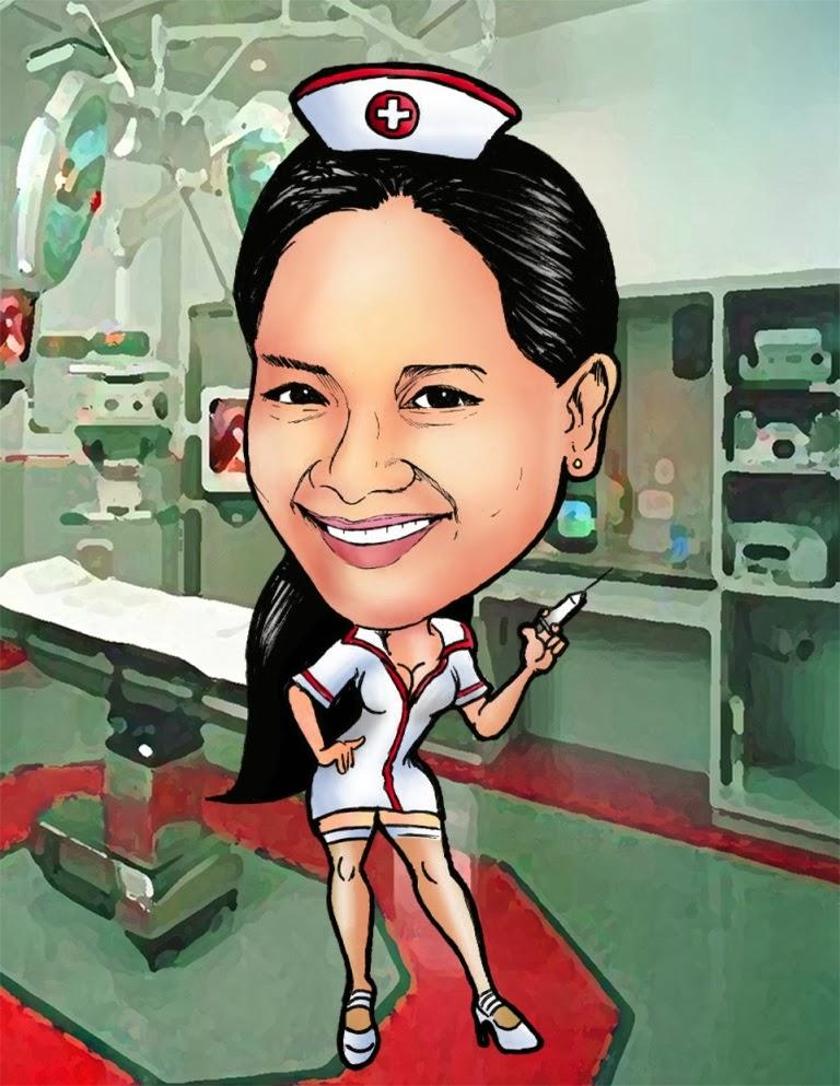 Kaelcatures Nurse Themed Caricatures