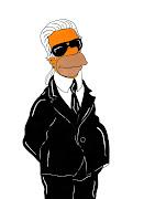 Humor ChicHomer Simpson. Karl Lagerfeld · Homer Simpson and Anna Wintour