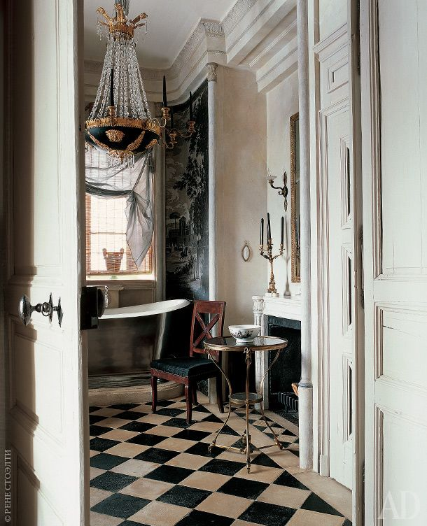Basins In French Baths Are Often Fitted Into Wooden Cabinets, Giving Extra  Storage Space And Neatly Concealing Plumbing. Search For Secondhand  Furniture ...
