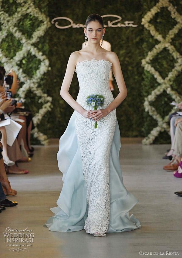 1001 fashion trends oscar de la renta bridal spring 2013 for How much do oscar de la renta wedding dresses cost
