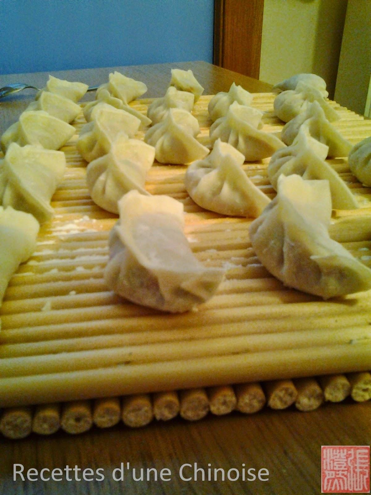 recettes d 39 une chinoise raviolis au porc et poireau zh r u d c ng shu ji o. Black Bedroom Furniture Sets. Home Design Ideas