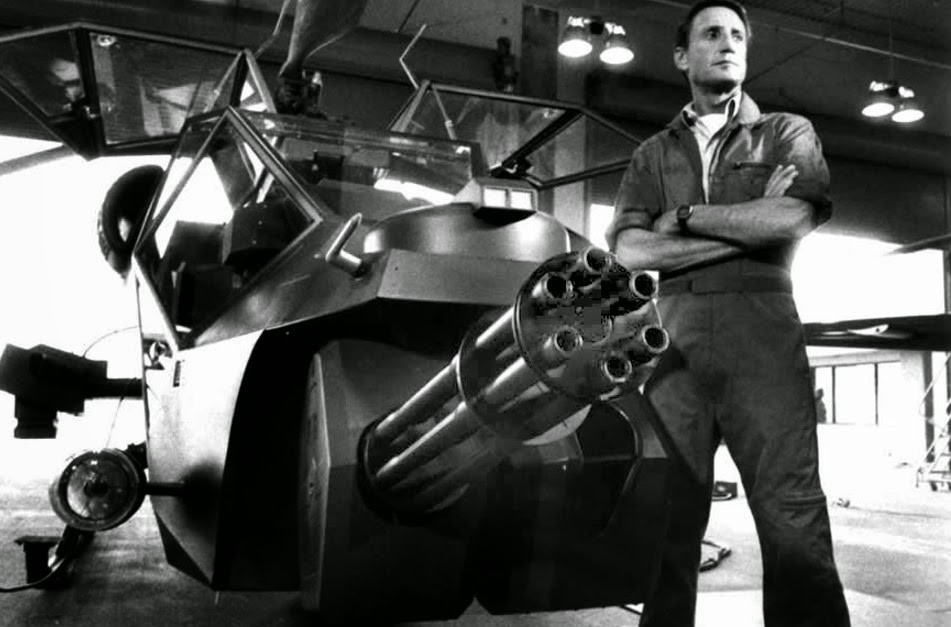 Jaws star Roy Scheider in 1983 John Badham urban thriller Blue Thunder about a state of the art gunship that can blow shit up