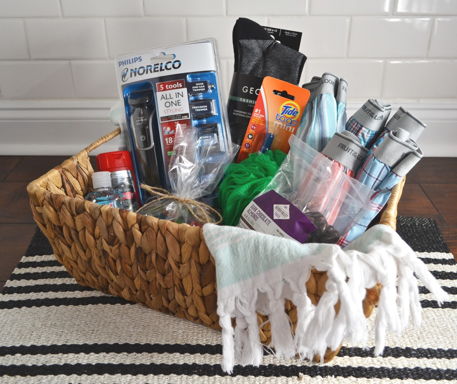 wonderfully made: gift guide : DIY shave kit and gift basket for men