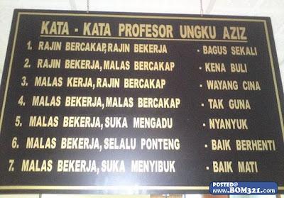 Kata-Kata Profesor Ungku Aziz