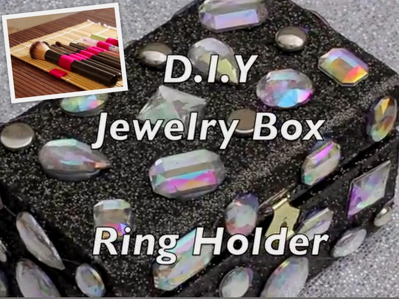 Video Of The Week: DIY Jewelry Box /Ring Holder And Makeup Brush Roll