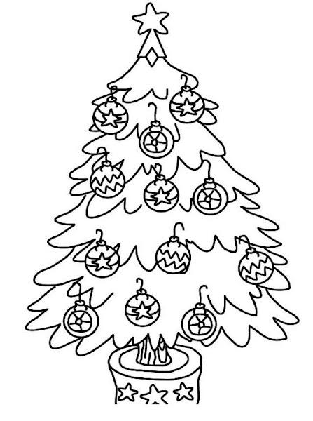 Christmas Tree Color Drawing