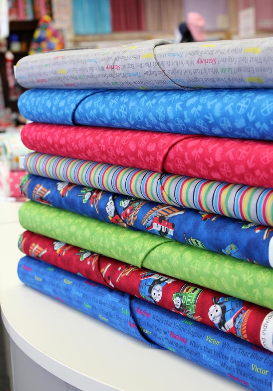Fabric mill thomas the train fabrics for Kids train fabric