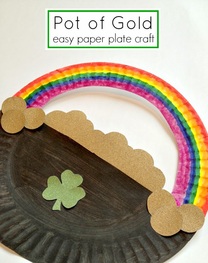 http://www.tutusteaparties.com/2014/02/Pot-of-Gold-Paper-Plate-Craft.html