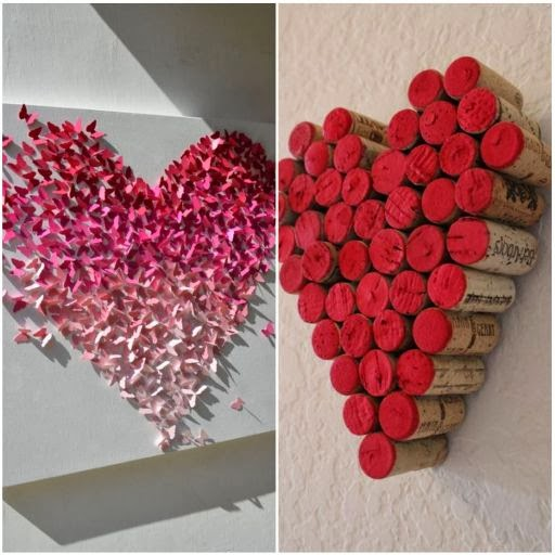 walentynki, dekoracje walentynkowe, serce, serduszka, obrazek walentynkowy