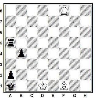 Problema ejercicio de ajedrez número 730: Estudio de G.A. Nadareishvili (1970)