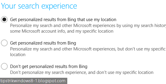 cara mengatur bing smart search di windows 8.1