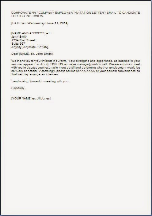 interview request letter format formal letter sample template 51