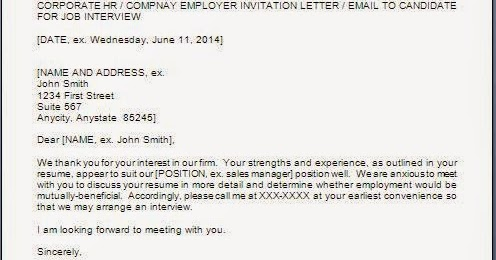 information interview request letter
