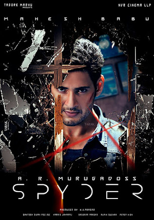 Poster Of Spyder In Dual Audio Hindi Telugu 300MB Compressed Small Size Pc Movie Free Download Only At nossalondres.com