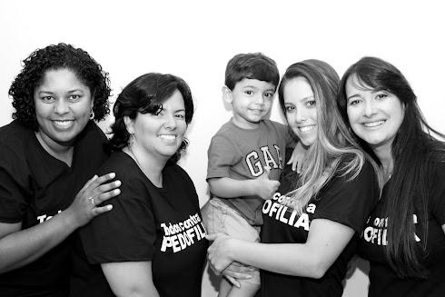 Ana, Vanessa, Leozinho, Priscila Dxson e Marta Lança - CAMPANHA TODOS CONTRA A PEDOFILIA