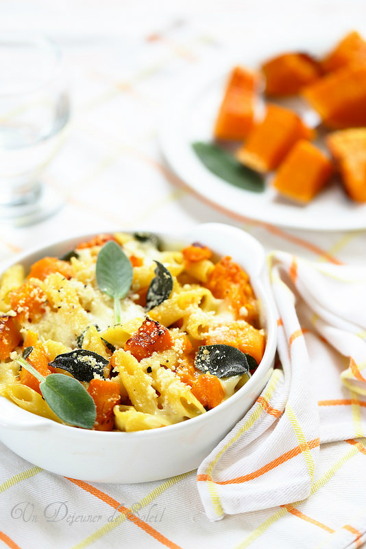 Gratin de p tes la courge butternut et mozzarella - Pate a la mozzarella ...
