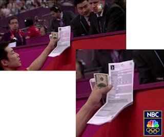Japanese Gymanastic official bribing and/or appealing a score to the judges, japan bribe olympics gymnastics