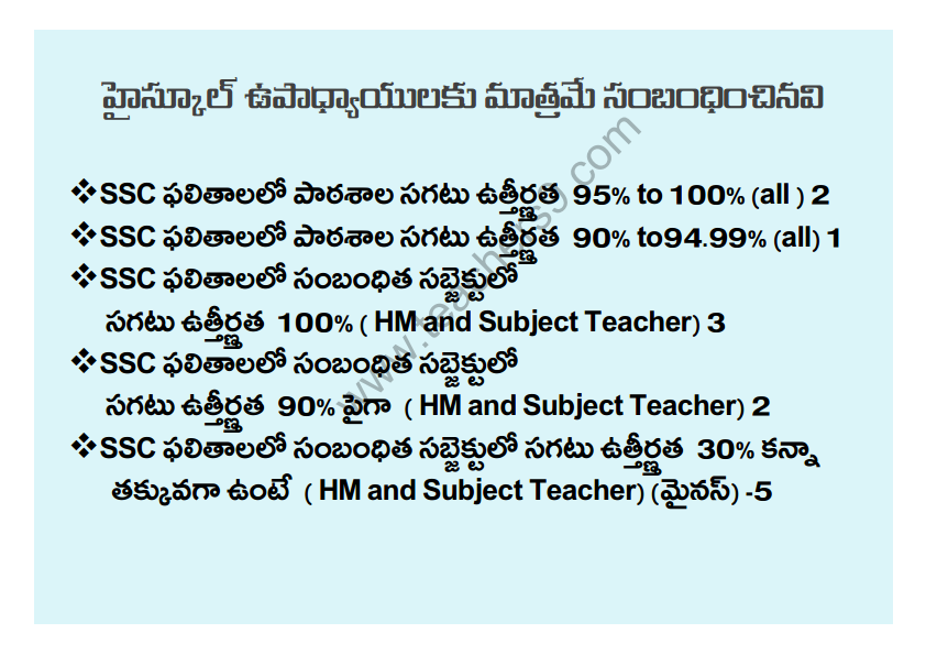 A.P Teachers transfers entitlement points in telugu8