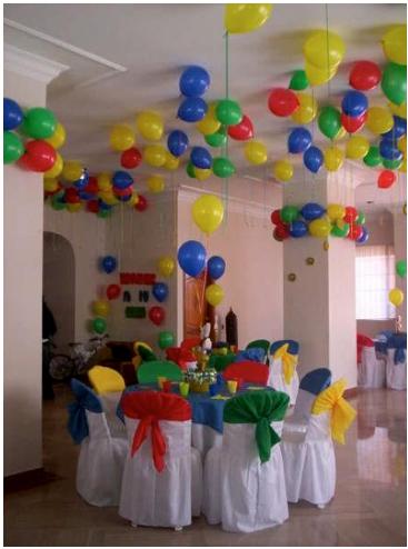 Celebraciones decorando una fiesta de cumpleaospara - Decoracion fiestas infantiles en casa ...