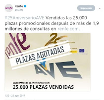 Sigue el desastre de la web de RENFE