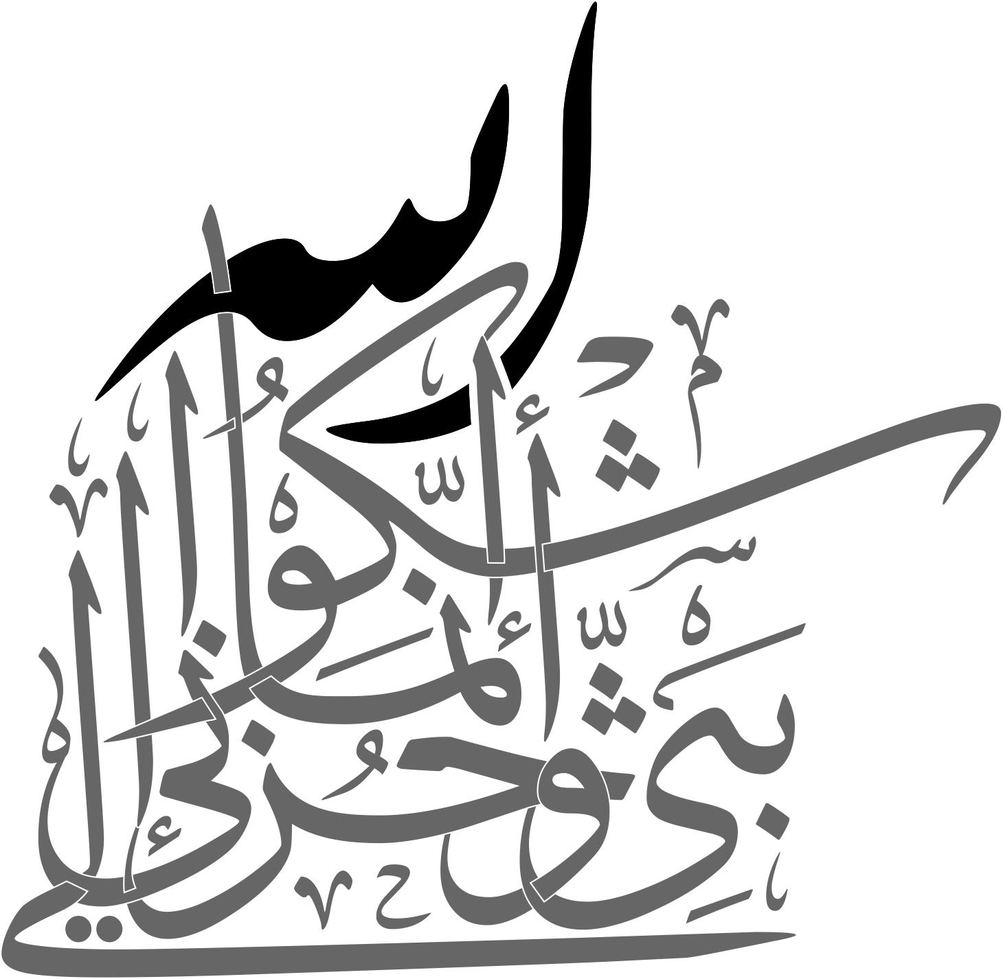 Arabic Calligraphy Innamaa Ashkoo Bassi Wa Huzni Ilallah