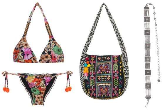 Adriana Barra para C&A biquíni bolsa e colar