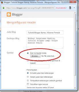 cara menambahkan gambar di header blog