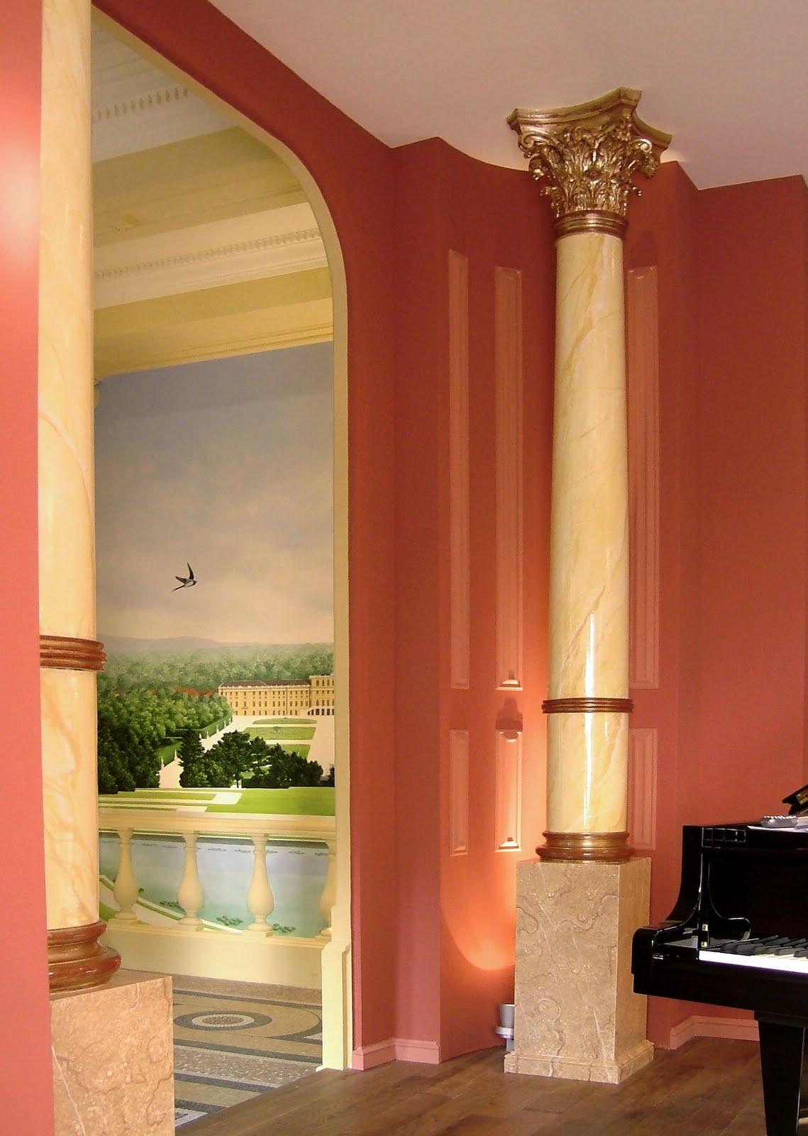 vox a arts visuels trompe l 39 oeil bois et marbre. Black Bedroom Furniture Sets. Home Design Ideas