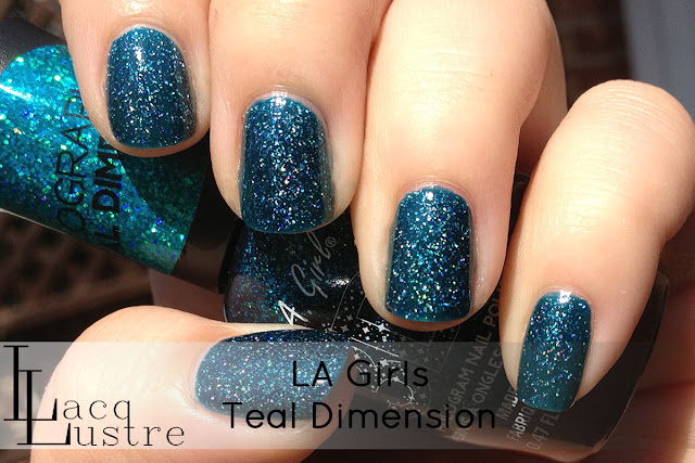 LA Girls Teal Dimension swatch