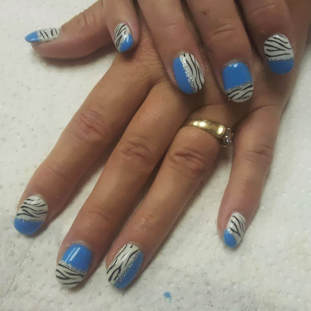 Acrylic Back-Fill and a Gel-Color Animal Print