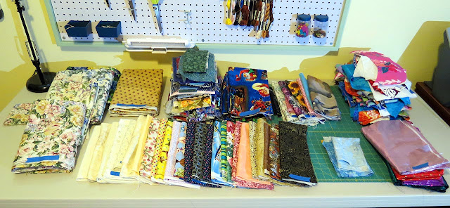 Lots of fabric